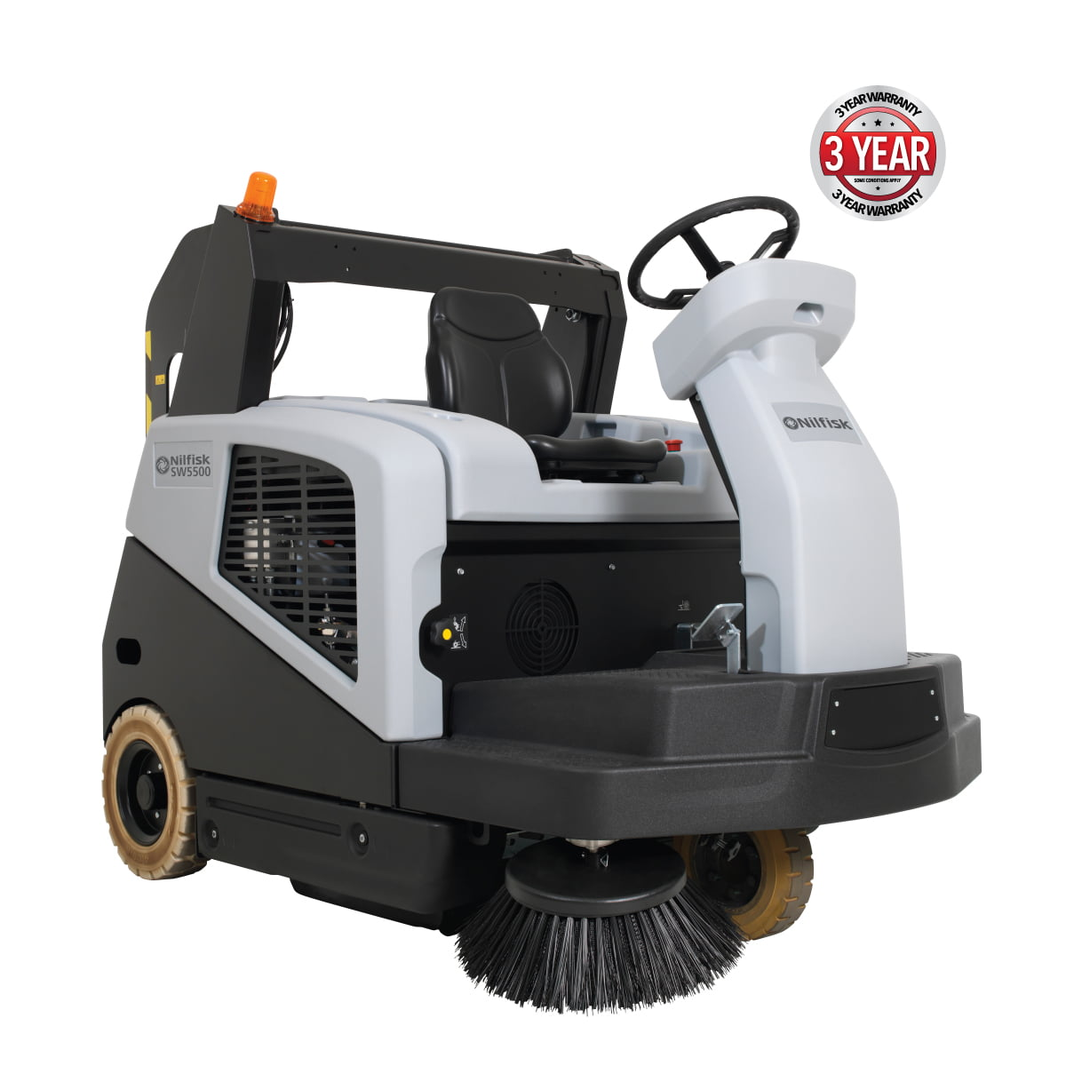 Nilfisk Sw5500b Battery Ride On Sweeper National Sweepers